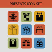 Present icons — Stock Vector