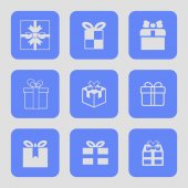 Present icons — Stock Vector