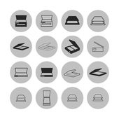 Scan icons — Stock Vector