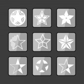 Star ikoner — Stockvektor