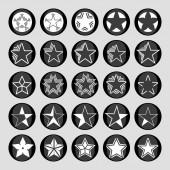 Iconos de estrellas — Vector de stock