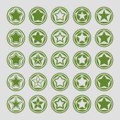 значки звезды — Cтоковый вектор
