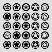 Yıldız kutsal kişilerin resmi — Stok Vektör