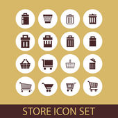 Store icons — Stock Vector