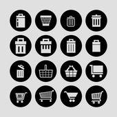 Хранить иконки — Cтоковый вектор