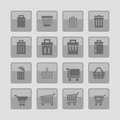 Armazenar ícones — Vetor de Stock