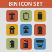 Trash icons — Vector de stock