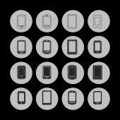 Smartphone icons — Stock Vector