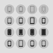 Smartphone icons — Stock Vector