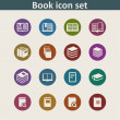 Book icons — Stock Vector #57492657