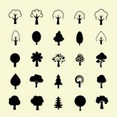 Trees icons — Stock Vector