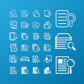 Search document icons — Stock Vector