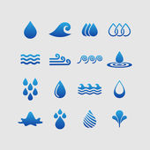 Water icons — Vector de stock