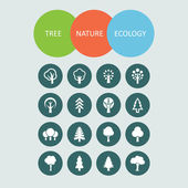Tree icons — Stockvector