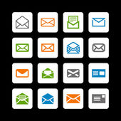 Mail icons — Stock Vector