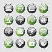 School icons — Vector de stock