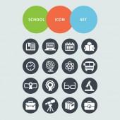škola ikony — Stock vektor