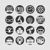 Icons schul — Stockvektor