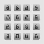 Lock icons — Stock Vector