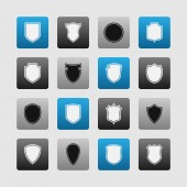 Shield icons — Stock Vector