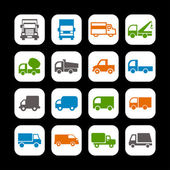 Truck icons — Stock Vector