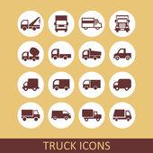 Icone di camion — Vettoriale Stock