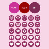 Heart icons — Vector de stock