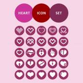 Heart icons — Stockvektor
