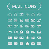 Icone posta — Vettoriale Stock