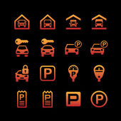 Parking icons — Stock Vector