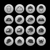 Helmet icons — Stock Vector