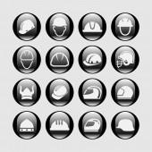 Helmet icons — Stock Vector