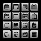 Ikony kalendáře — Stock vektor