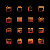 Iconos calendario — Vector de stock