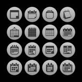 Icone calendario — Vettoriale Stock