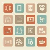 Video-Symbole — Stockvektor