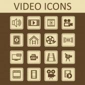 Wideo ikon — Wektor stockowy