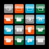 Folder icons — Stock Vector