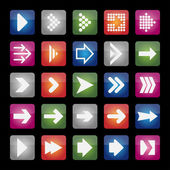 Arrow icons — Stock Vector