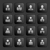 Kullanıcı simgeleri — Stok Vektör