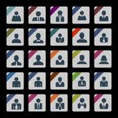 Iconos de usuario — Vector de stock