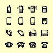 Telephone icons — Stockvektor