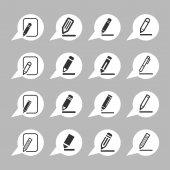 редактировать иконки — Cтоковый вектор
