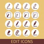 Edit icons — Stock Vector