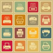 Icone stampa — Vettoriale Stock