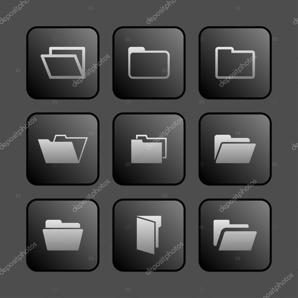 иконки папок чёрные: