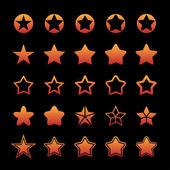 Звезды иконки — Cтоковый вектор