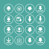 Download icons — Stock Vector