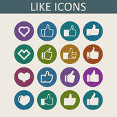 Like icons — Stock Vector