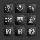 Iconos de ayuda — Vector de stock